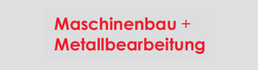 Maschinenbau + Metallbearbeitung Logo
