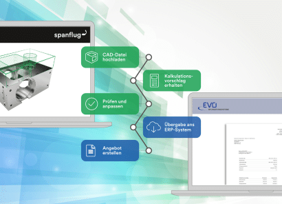 Spanflug für Fertiger & EVO ERP-System